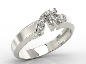 Diamonds 14ct  white gold ring JP-66B
