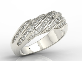 Diamonds 14ct white gold ring JP-68B