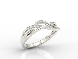 Diamonds 14ct white gold ring LP-73B