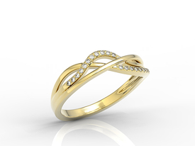 Diamonds 14ct yellow gold LP-73Z