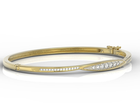 Diamonds 14ct yellow gold bracelet  APBr-97Z-R