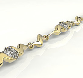Diamonds 14ct yellow gold bracelet LPBr-20Z-R