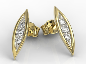 Diamonds, 14ct yellow gold errings APK-97Z-R