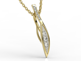 Diamonds 14ct yellow gold pendant APW-97Z-R