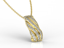 Diamonds, 14ct yellow gold pendant JPW-68Z-R