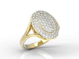 Diamonds 14ct yellow gold ring AP-91Z-R
