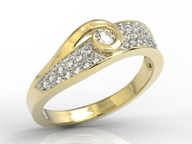 Diamonds 14ct yellow gold ring JP-53Z-R