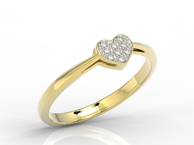 Diamonds 14ct yellow gold ring LP-40Z-R 0,045ct