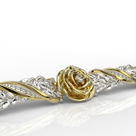Diamonds 14ct yellow & white gold bracelet APBr-95ZB