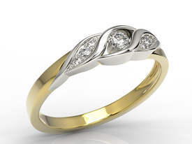 Diamonds 14ct yellow & white gold ring AP-51ZB