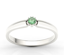 Emerald 14 ct white gold ring BP-2110B