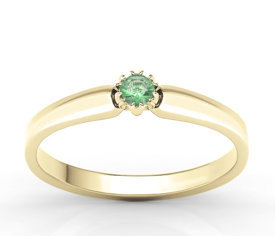 Emerald 14ct yellow gold ring BP-2110Z