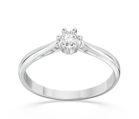 Enagagement diamond ring from white gold AP-6610B