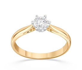 Enagagement diamond ring from yellow and white gold AP-6627ZB