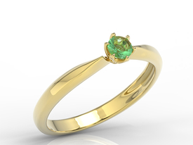 Enagagement emerald 14ct gold ring AP-3620Z