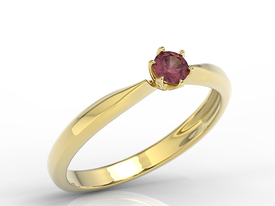 Enagagement ruby 14ct gold ring AP-3620Z