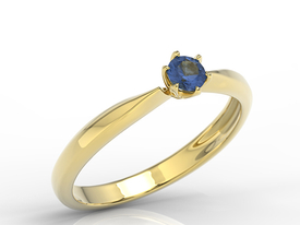 Enagagement sapphire 14ct gold ring AP-3620Z