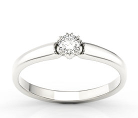 Engagement white gold ring with diamond 0,20ct BP-2120B