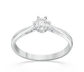 Engagement white gold ring with diamond AP-6622B