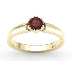 Garnet 14 ct yellow gold ring BP-2130Z