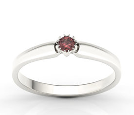 Garnet 14ct white gold ring BP-2110B