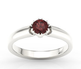 Garnet, 14ct white gold ring BP-2130B
