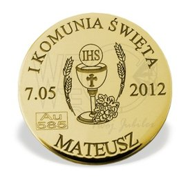 """Lucky coin"" gold M-4Z perfect for Communion"