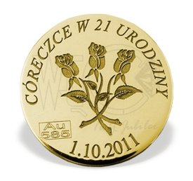 """Lucky coin"" gold M-7Z perfect for every occasion"