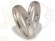 Pair of the white gold wedding ring ST-160B(C)