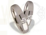 Pair of the white gold wedding rings ST-161B(C)