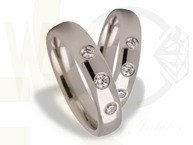 Pair of the white gold wedding rings ST-162B(C)