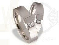 Pair of the white gold wedding rings ST-164B(C)
