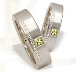 Pair of the white gold wedding rings ST-216B(C)