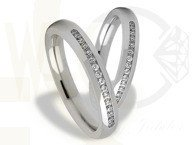 Pair of the white gold wedding rings ST-277B(C)