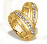 Pair of the yellow gold wedding ring ST-71Z(C)
