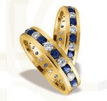 Pair of the yellow gold wedding ring ST-82Z(C)