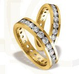 Pair of the yellow gold wedding ring ST-84Z(C)