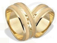 Pair of the yellow gold wedding rings ŁN-05Z