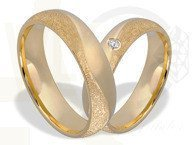 Pair of the yellow gold wedding rings  ŁN-17Z