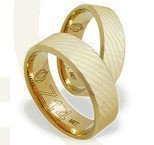 Pair of the yellow gold wedding rings ŁZ-14Z-EXTRA light