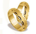 Pair of the yellow gold wedding rings ST-124Z