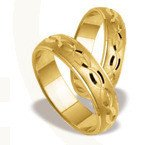 Pair of the yellow gold wedding rings ST-125Z