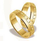 Pair of the yellow gold wedding rings ST-126Z