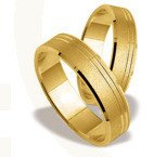 Pair of the yellow gold wedding rings ST-127Z