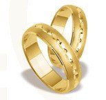 Pair of the yellow gold wedding rings ST-128Z