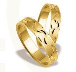 Pair of the yellow gold wedding rings ST-129Z