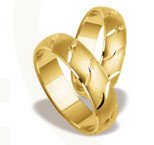 Pair of the yellow gold wedding rings ST-130Z