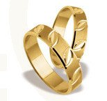 Pair of the yellow gold wedding rings ST-131Z