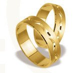 Pair of the yellow gold wedding rings ST-132Z