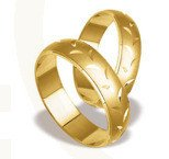 Pair of the yellow gold wedding rings ST-133Z
